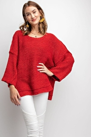 Unknown Factory Red Chunky Sweater - Product Mini Image