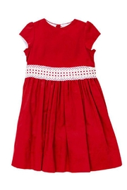 Bailey Boys Red Corduroy/lace Dress - Other