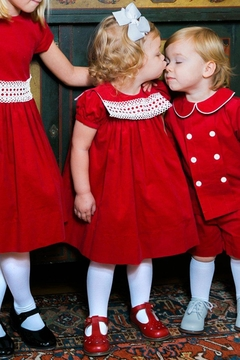 Bailey Boys Red Corduroy/lace Float-Dress - Product List Image