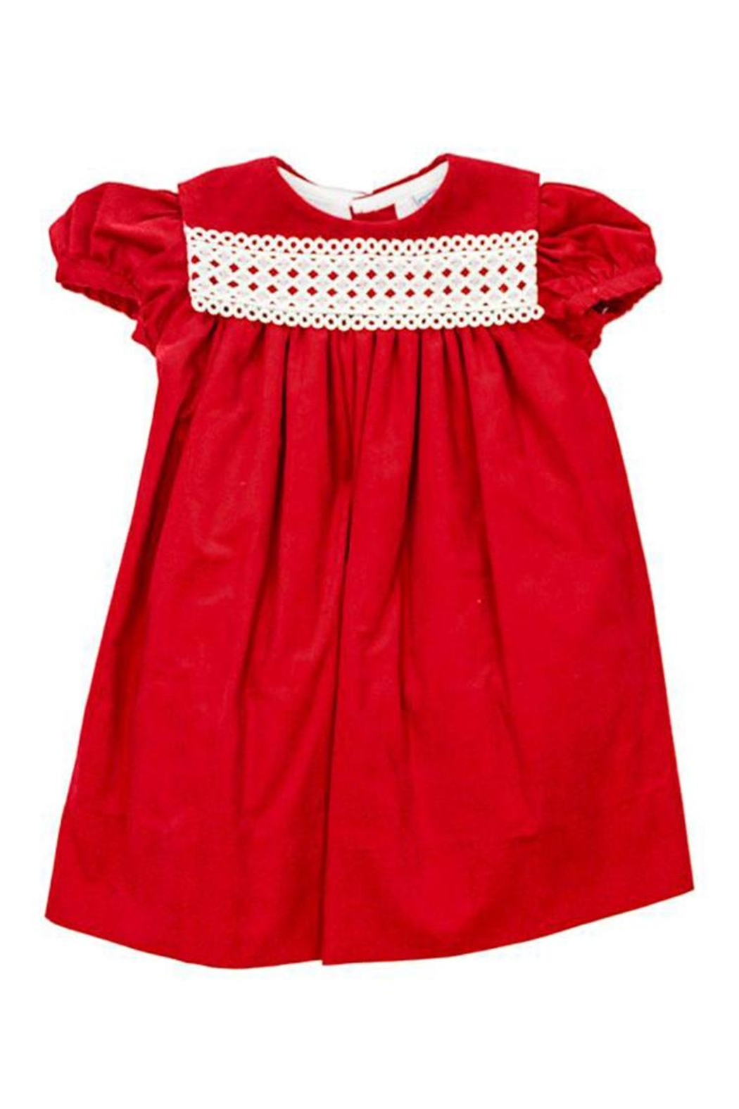 Bailey Boys Red Corduroy/lace Float-Dress - Back Cropped Image