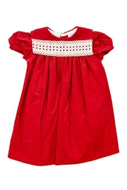 Bailey Boys Red Corduroy/lace Float-Dress - Back cropped