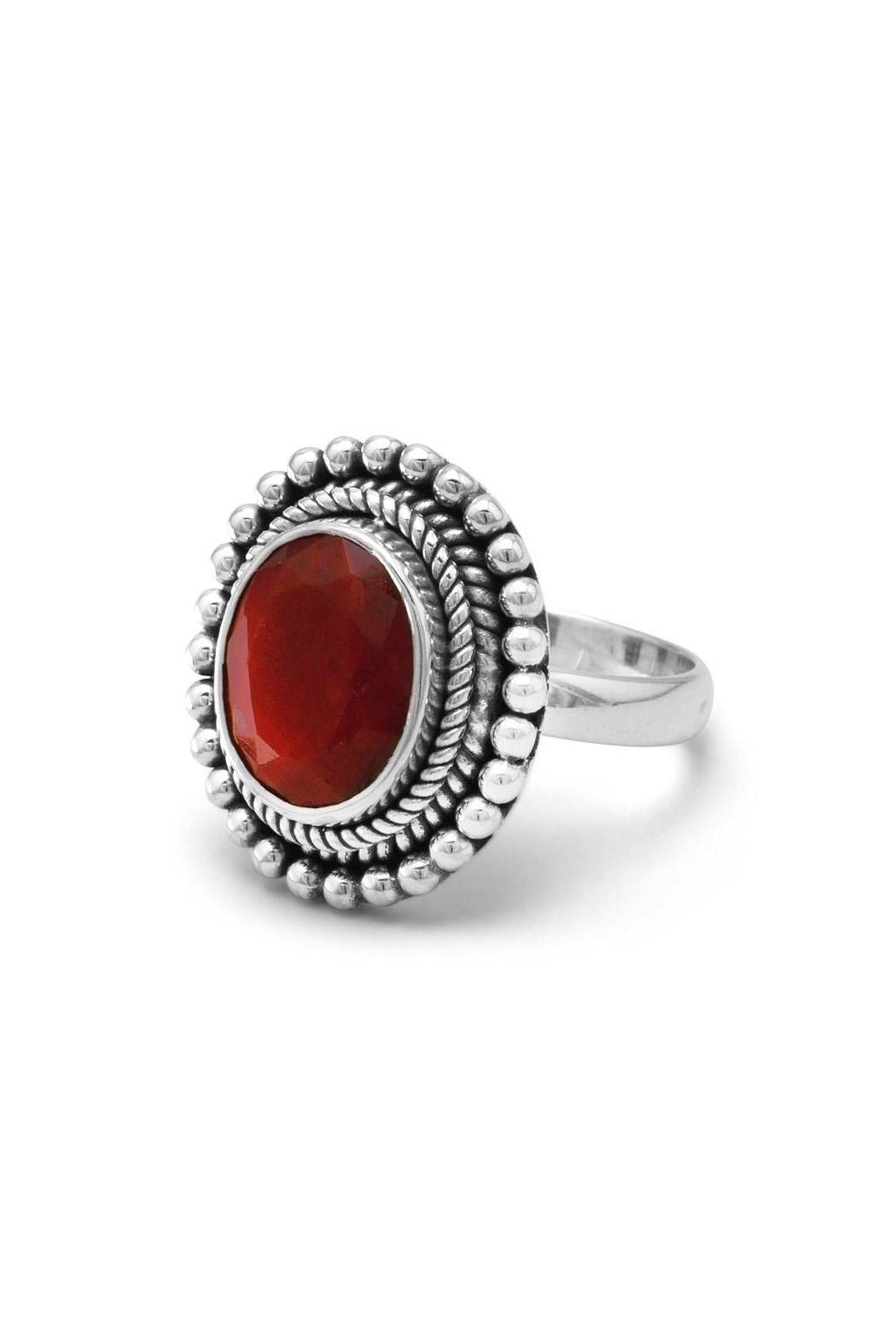 Wild Lilies Jewelry  Red Corundum Ring - Front Full Image