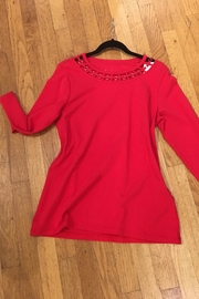Eli Red Cotton Top - Product Mini Image