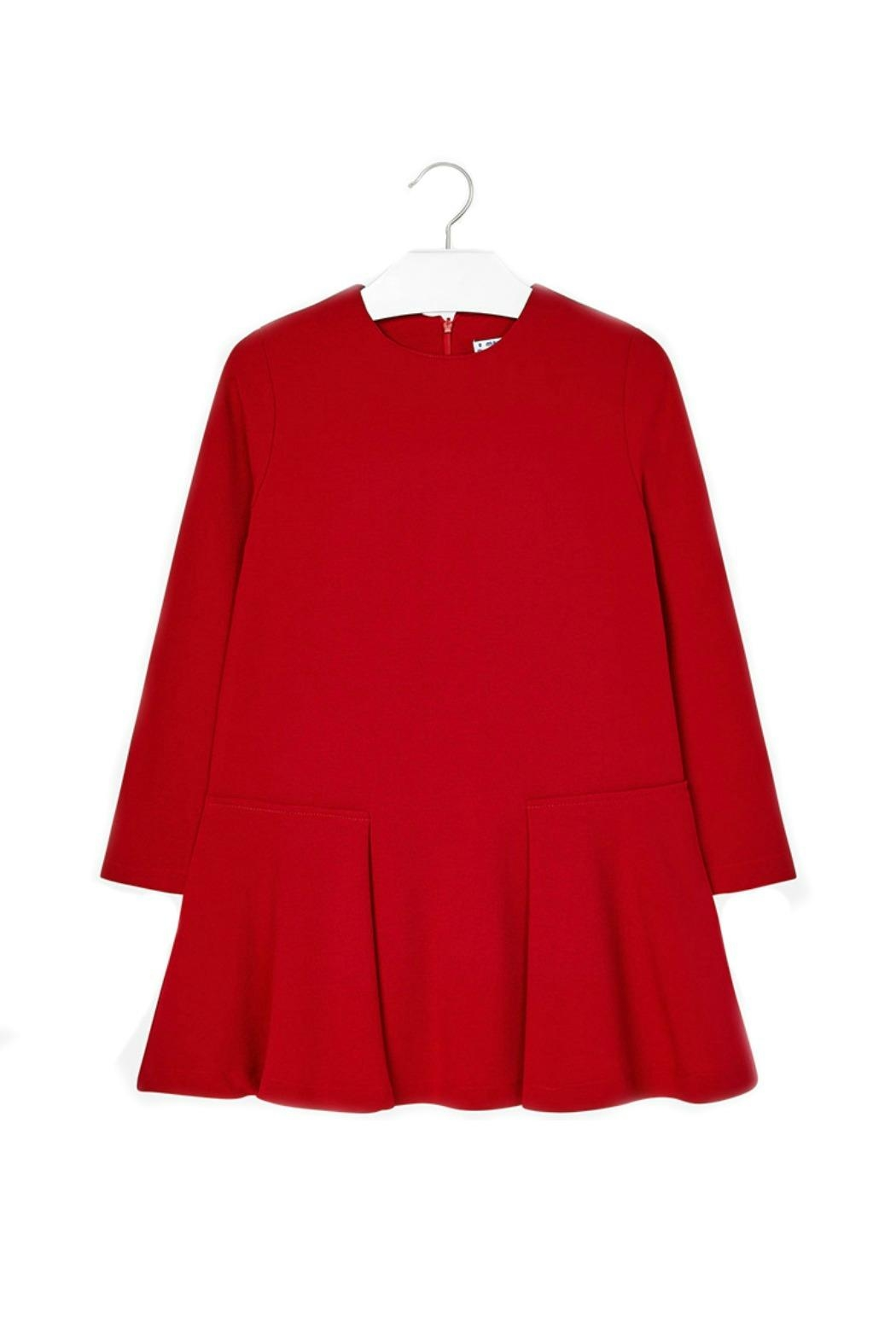 Mayoral Red Crepe Dress - Front Cropped Image