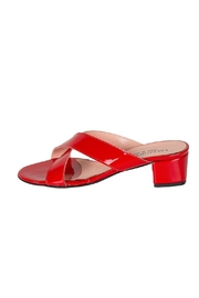Lady Doc Red Crossover Heeled-Slides - Product Mini Image