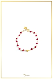 Malia Jewelry Red-Crystal Heart Bracelet - Product Mini Image