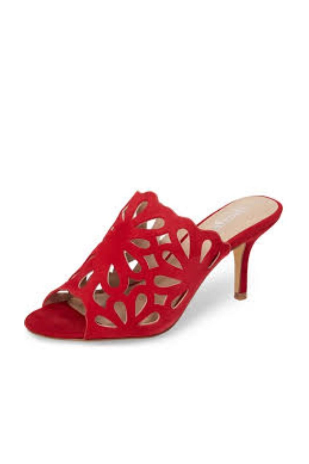 Charles By Charles David Red Cutout Heel - Front Cropped Image