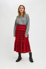 Compania Fantastica Red Dot Skirt - Front cropped