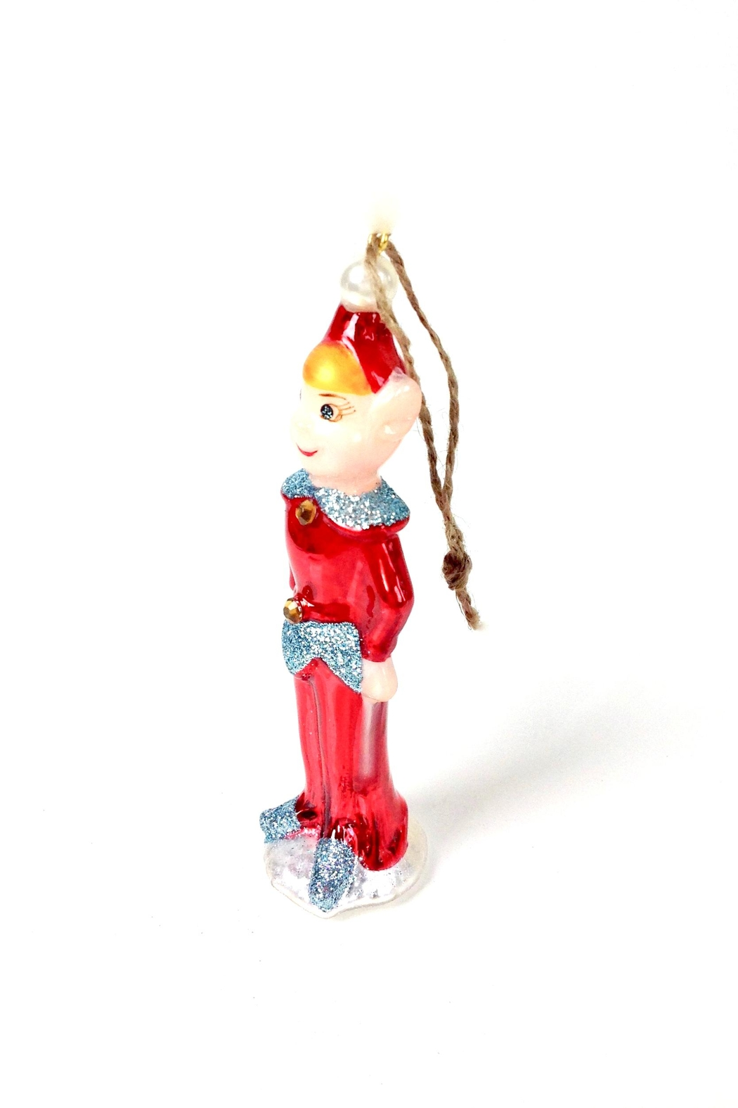 GHome2 Red Elf Ornament - Front Full Image