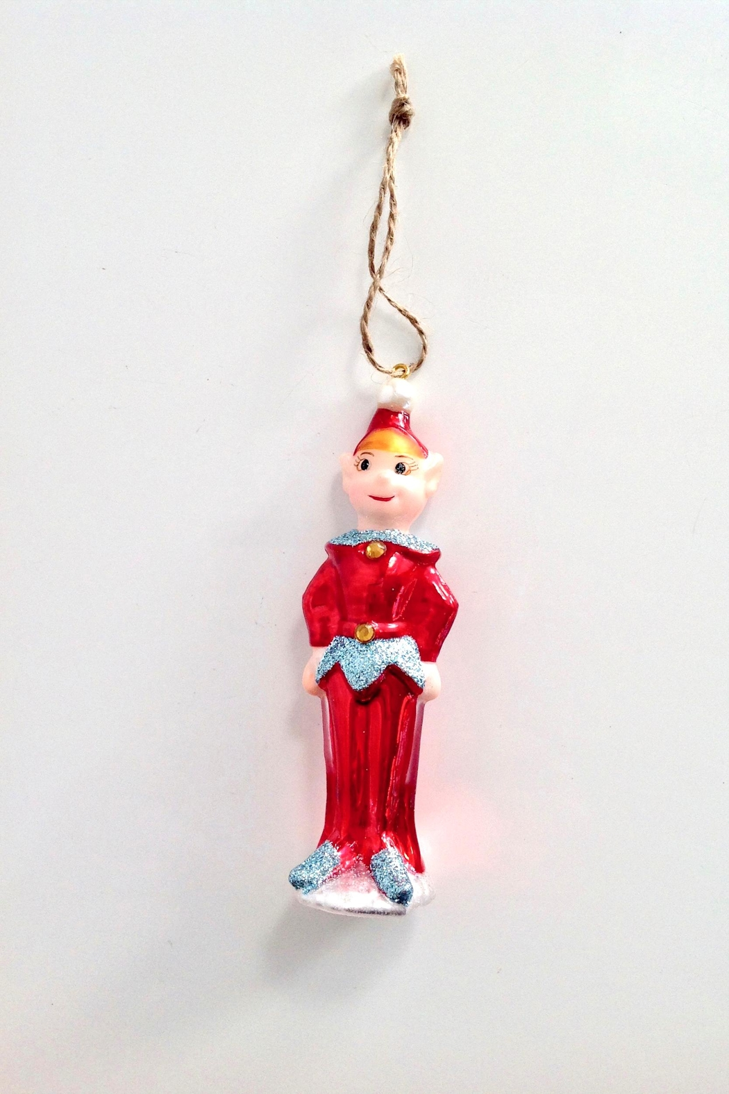 GHome2 Red Elf Ornament - Back Cropped Image