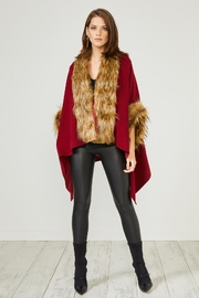 Urban Touch Red Fauxfur Trimcoat - Product Mini Image