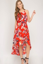 Bio Red Floral Dress - Product Mini Image