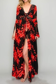 AAKAA Red Floral Dress - Product Mini Image