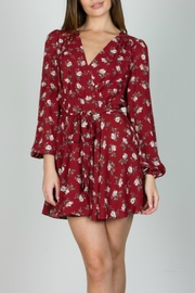 essue Red Floral Dress - Product Mini Image