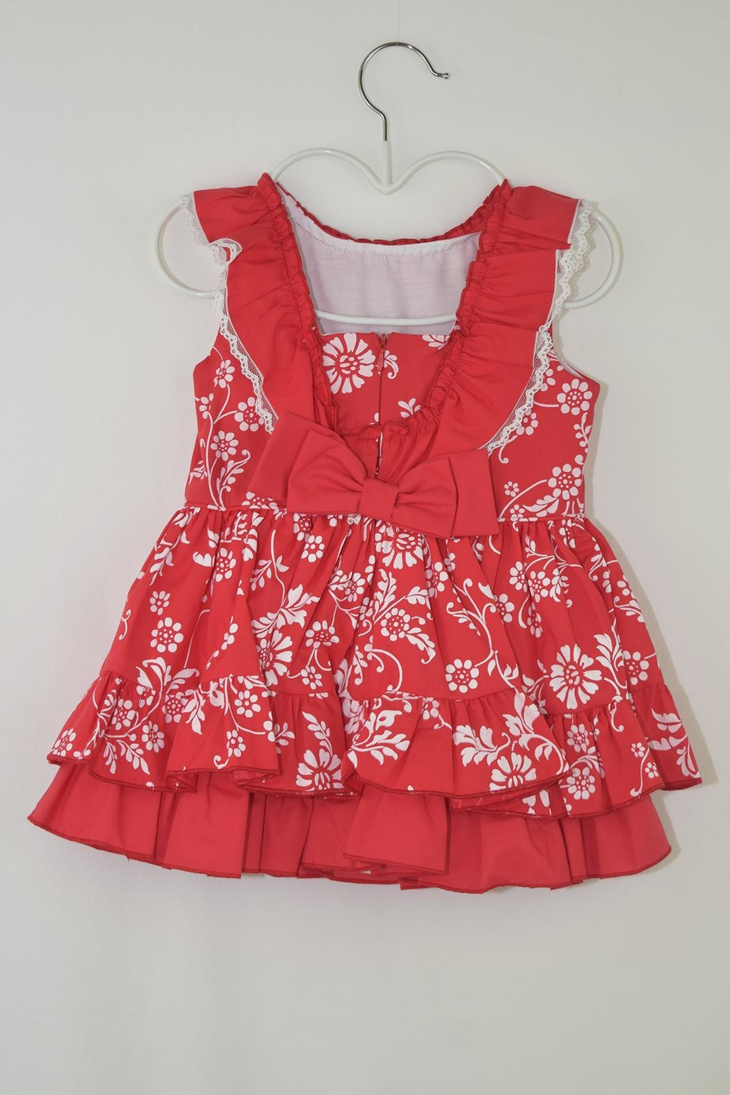 Dolce Petit Red Floral Dress - Front Full Image