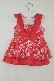 Dolce Petit Red Floral Dress - Front full body