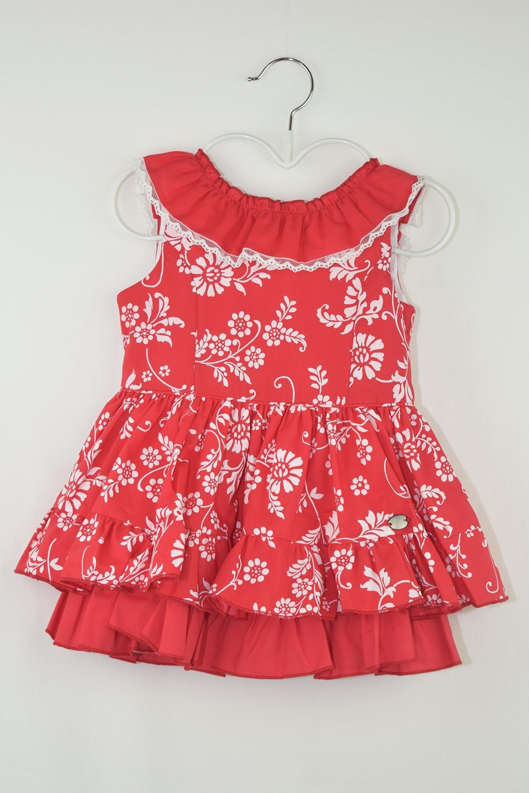 Dolce Petit Red Floral Dress - Main Image