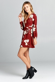Racine Red Floral Dress - Product Mini Image