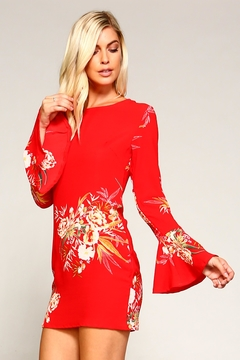 Racine Red Floral Dress - Product List Image