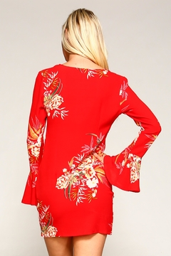 Racine Red Floral Dress - Alternate List Image