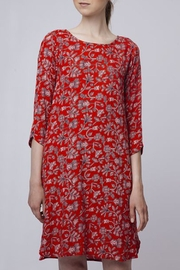 Compania Fantastica Red Floral Dress - Product Mini Image