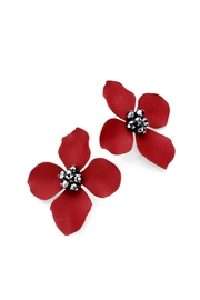 Wild Lilies Jewelry  Red Floral Earrings - Product Mini Image