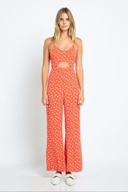 skylar madison Red Floral Jumpsuit - Product Mini Image