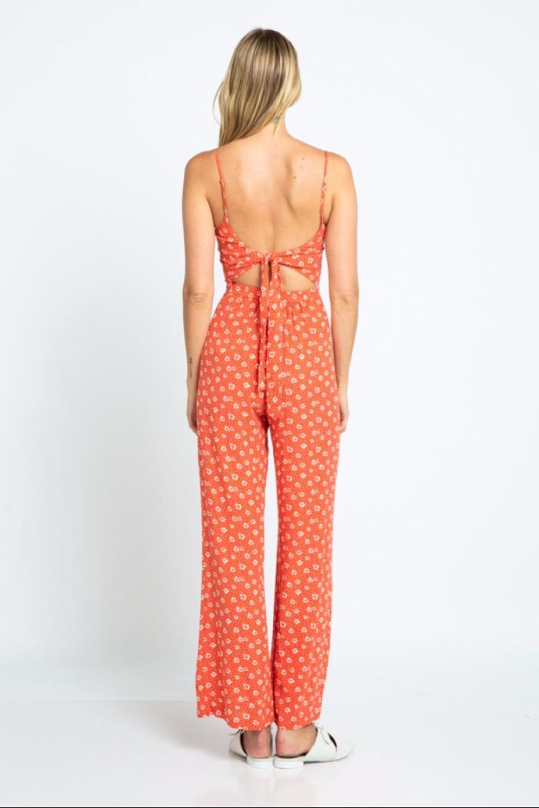 2965605a1d73 skylar madison Red Floral Jumpsuit from Los Angeles by Chikas ...
