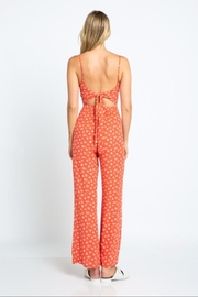 skylar madison Red Floral Jumpsuit - Front full body