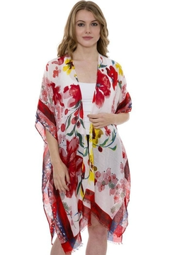 Patricia's Presents Red Floral Kimono - Product List Image