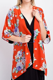143 Story Red Floral Kimono - Product Mini Image