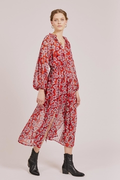 Goldie Red Floral Maxi - Product List Image