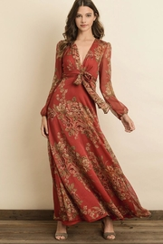 dress forum Red Floral Maxi - Product Mini Image