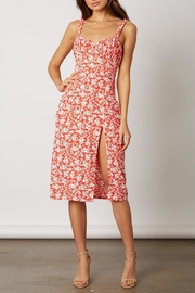 Lush Clothing  Red Floral Midi-Dress - Product Mini Image