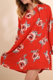 Umgee USA Red-Floral Print Dress - Product Mini Image