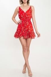 L'atiste Red Floral Romper - Product Mini Image