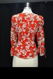 Dance & Marvel Red Floral Top - Front full body