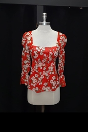 Dance & Marvel Red Floral Top - Front cropped