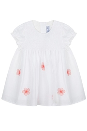 Tartine et Chocolat Red Flower Dress - Front cropped