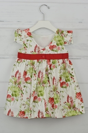 Granlei 1980 Red Flower Dress - Front full body