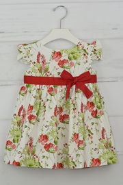 Granlei 1980 Red Flower Dress - Front cropped
