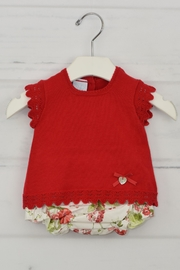 Granlei 1980 Red Flower Outfit - Front cropped