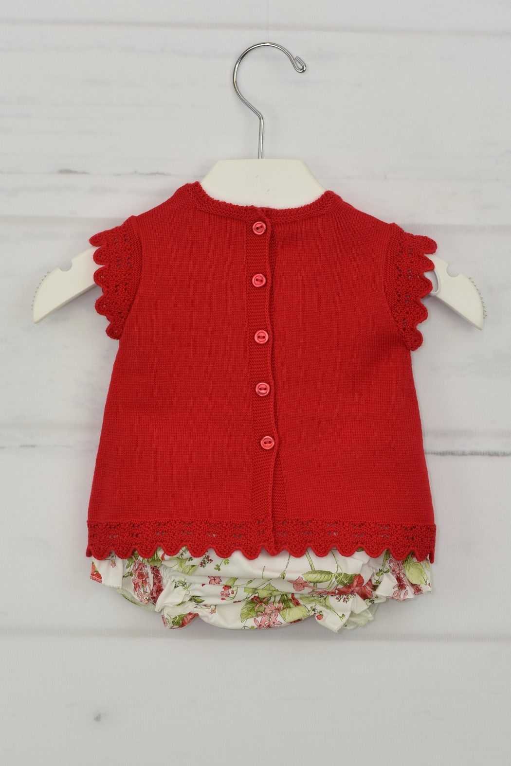 Granlei 1980 Red Flower Outfit - Front Full Image