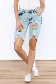 Red Fox Destroyed Bermuda Short - Front cropped