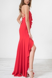 Urban Touch Red Frilldetailstrappedback Maxidress - Product Mini Image