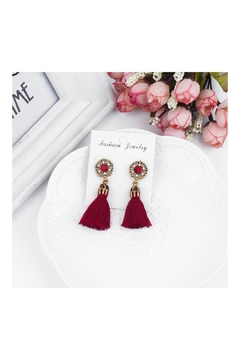 Shoptiques Product: Red Fringe Earring