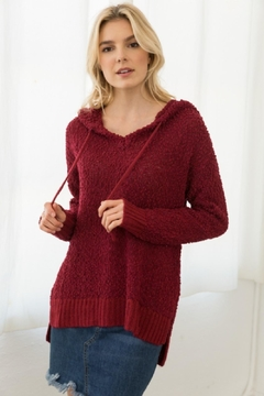Shoptiques Product: Red Fuzzy Pullover