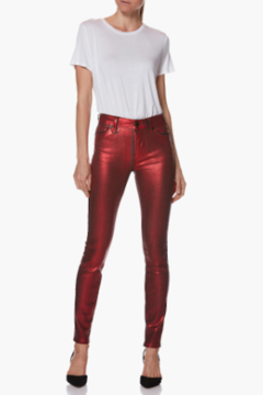 Paige Denim Red Galaxy Coated Skinny Jean - Product List Image