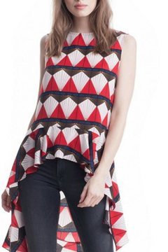 Symphony Red Geometric Tunic - Product List Image