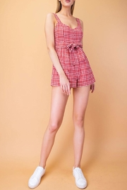 Le Lis Red Gingham Romper - Product Mini Image